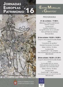 Portada de las Jorndas Europeas de Patrimonio 2016 celebradas en Ceuta
