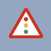 Captura de la portada de la presentación con el semáforo de riesgos